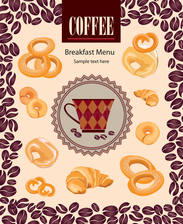 Rétro label de café. Paquet d'illustration de vecteur. illustration stock