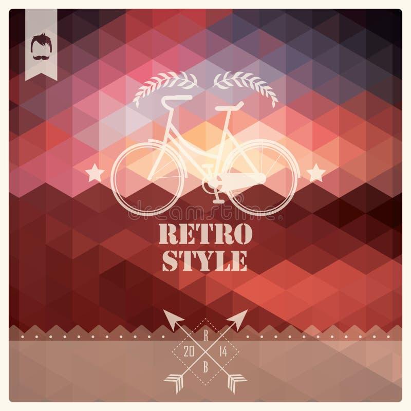 Rétro label de hippie de vintage, typographie, dessin géométrique illustration de vecteur