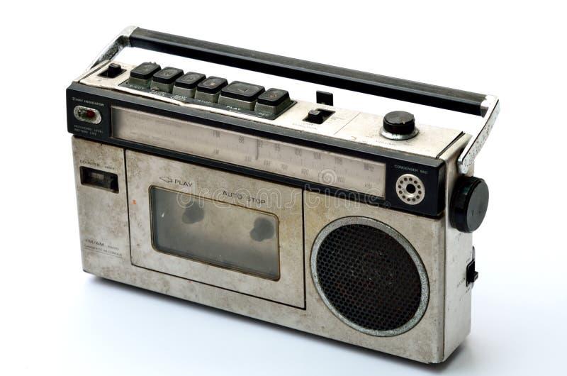 Rétro lecteur de radio et de bande magnétique photographie stock libre de droits