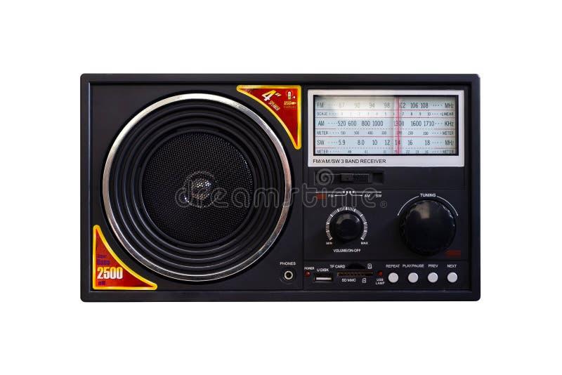 Rétro lecteur MP3 de regard de cru simple avec le récepteur de bande de radio de commutateur de FM AM photographie stock