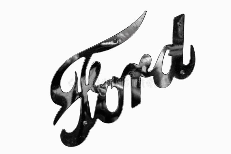 Rétro logo de voiture de Ford photographie stock