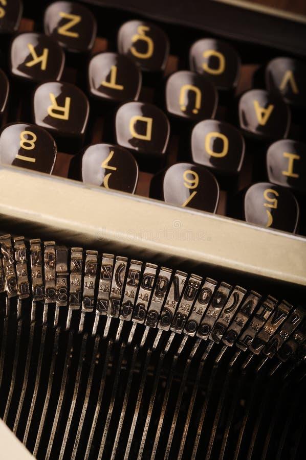 Rétro machine à écrire photo stock