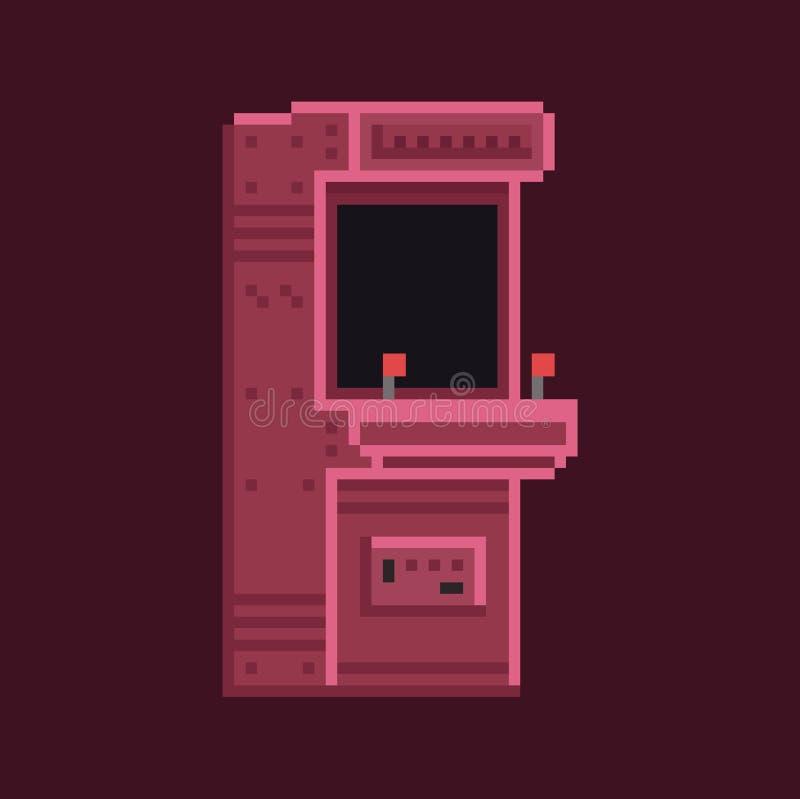 Rétro machine de coffret d'arcade de bit de l'art 8 de pixel illustration de vecteur