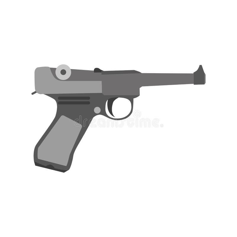 Rétro Mafia d'arme de pistolet de conception d'homme de revolver d'illustration de bandit d'art de cowboy de vintage de vecteur d illustration libre de droits