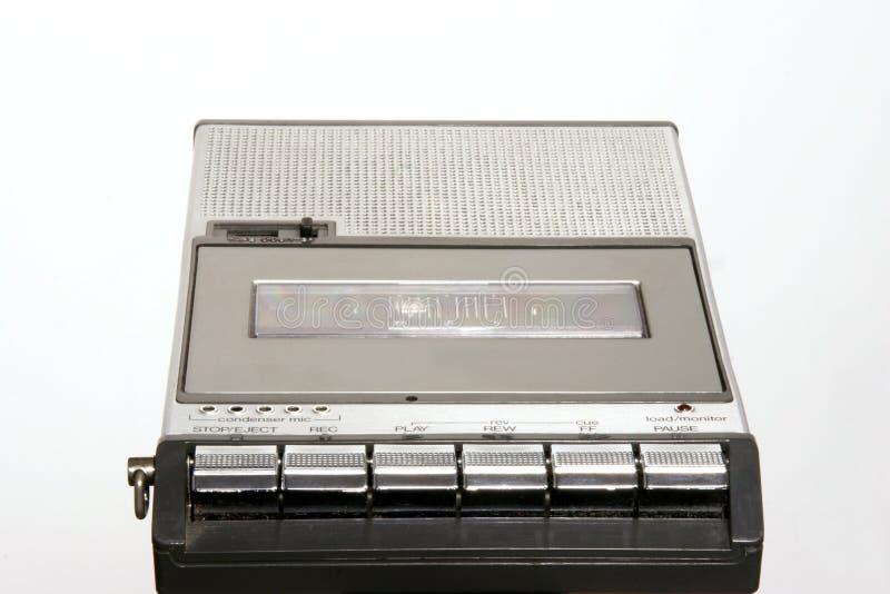 Rétro magnétophone à cassettes photo libre de droits