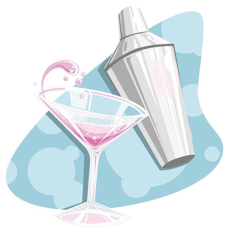 Rétro martini et dispositif trembleur photos libres de droits