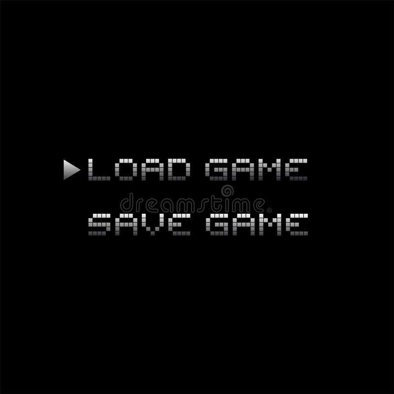 Rétro menu de jeu vidéo illustration de vecteur