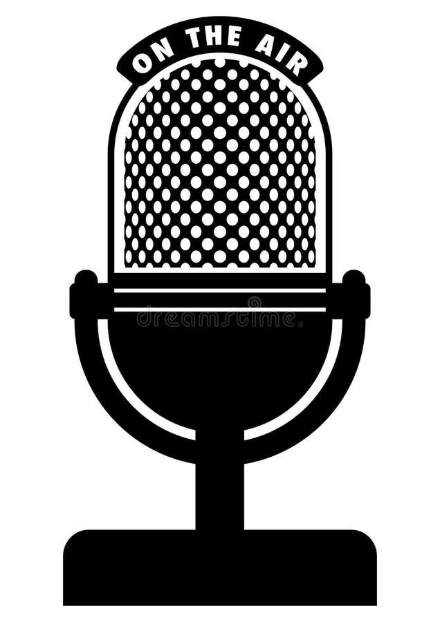 Rétro microphone illustration libre de droits