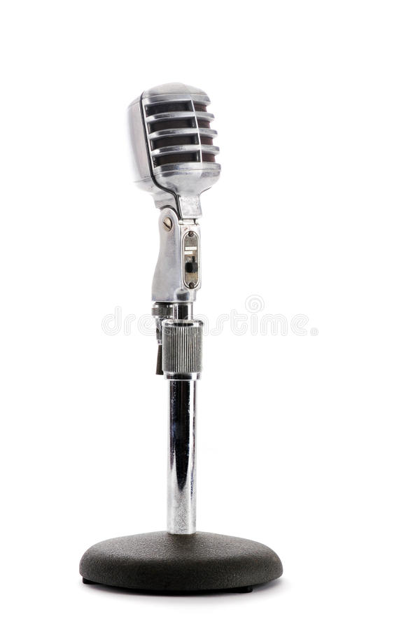 Rétro microphone images stock