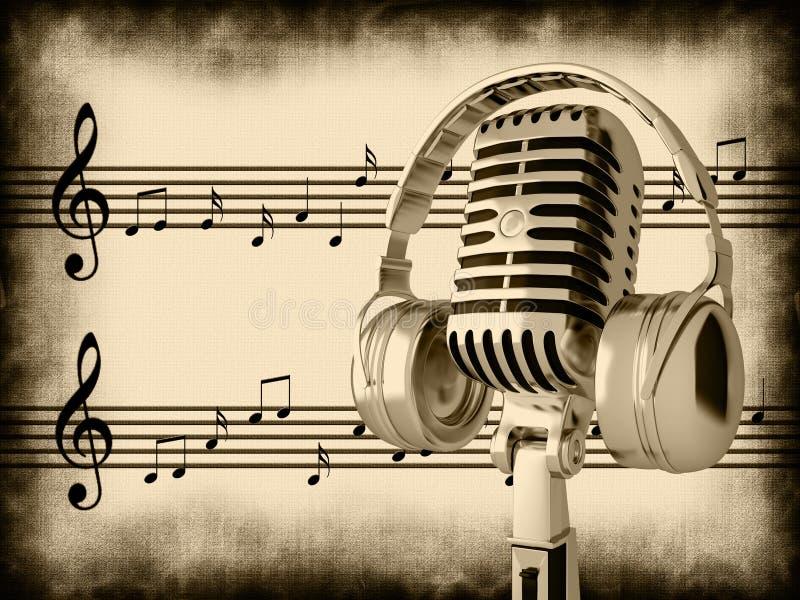 Rétro microphone illustration de vecteur