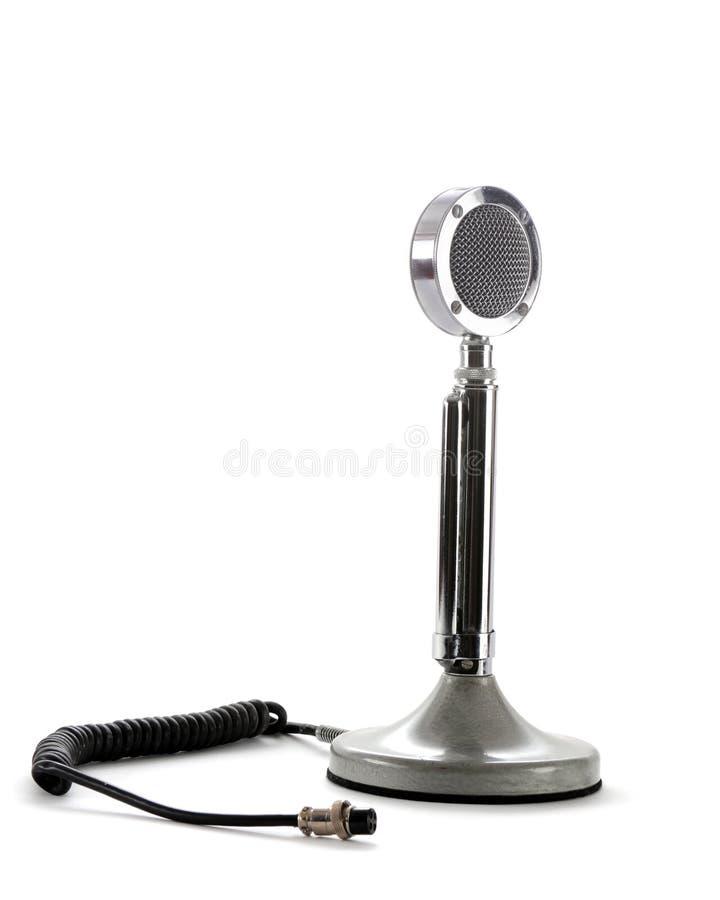 Rétro microphone de Jambon-Radio image stock