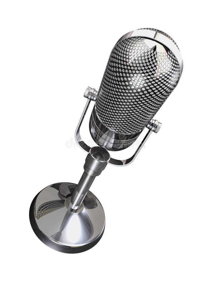 Rétro microphone rond illustration libre de droits