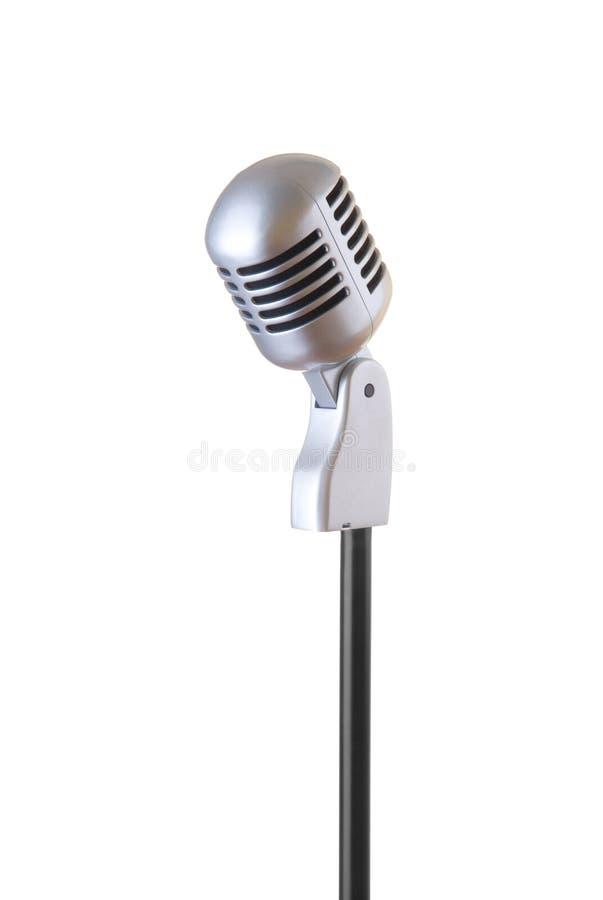 Rétro microphone sur le stand photo libre de droits