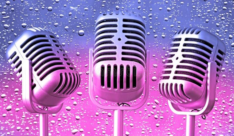 Rétro mics de musique de bulle de vintage image libre de droits