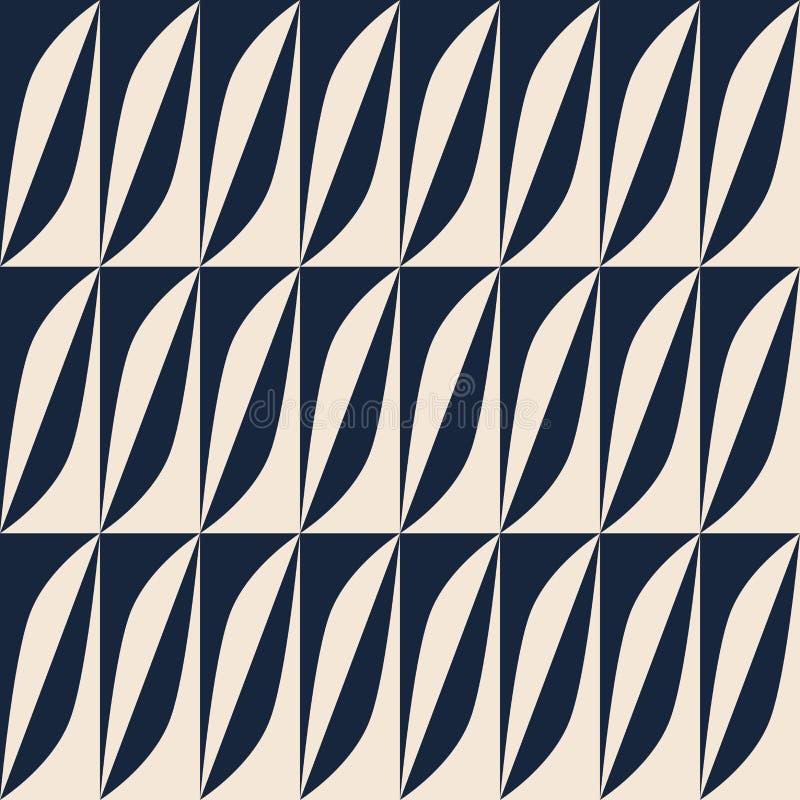 Rétro modèle abstrait sans couture illustration de vecteur