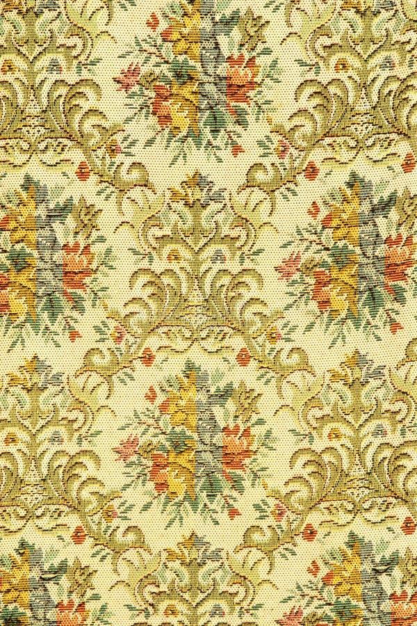 Rétro modèle coloré de textile de tapisserie avec l'Orn floral fait main image stock