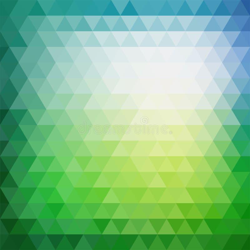 Rétro modèle de mosaïque des formes géométriques de triangle illustration stock