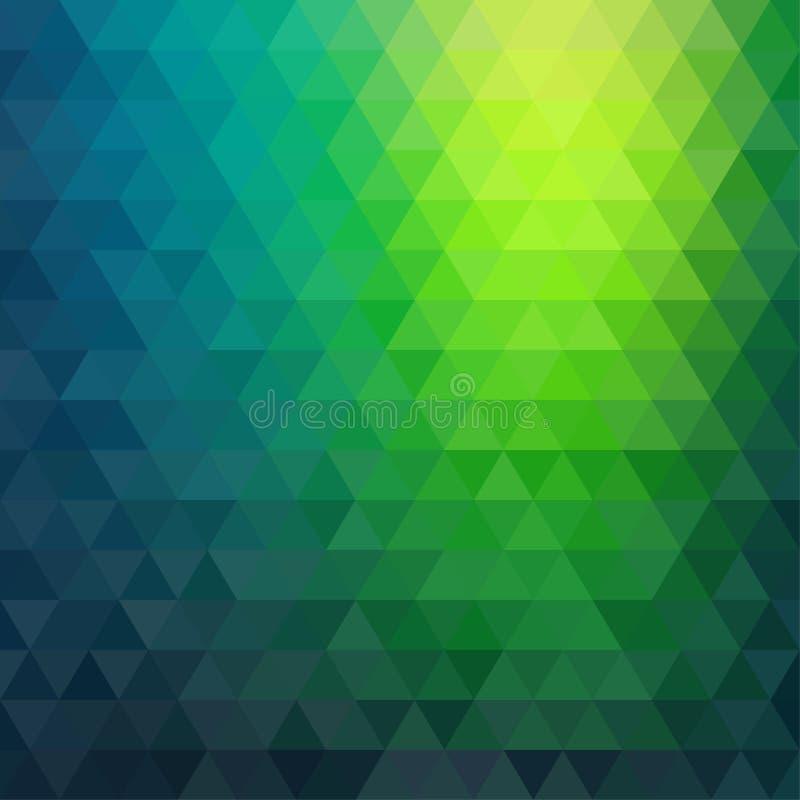 Rétro modèle de mosaïque des formes géométriques de triangle illustration de vecteur