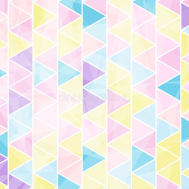 Rétro modèle de triangle de hippies illustration libre de droits
