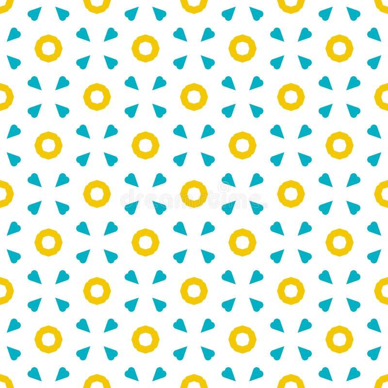 Rétro modèle géométrique dans la répétition Copie de tissu Fond sans couture, ornement de mosaïque, style de vintage illustration stock