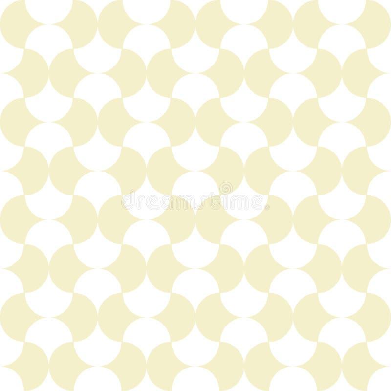 Rétro modèle sans couture avec des formes géométriques illustration stock
