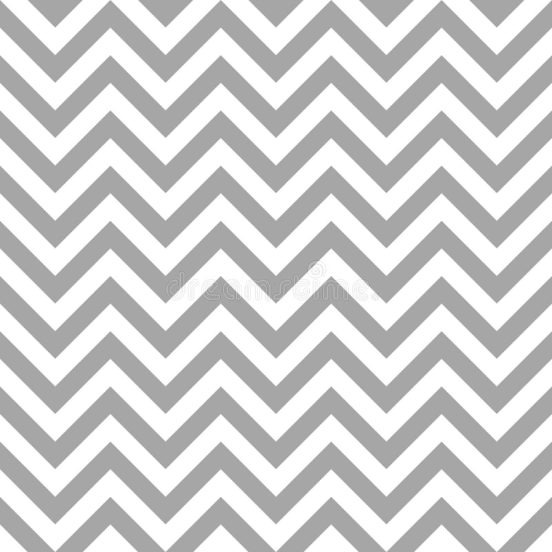 Rétro modèle sans couture Chevron Gray And White Lines illustration stock