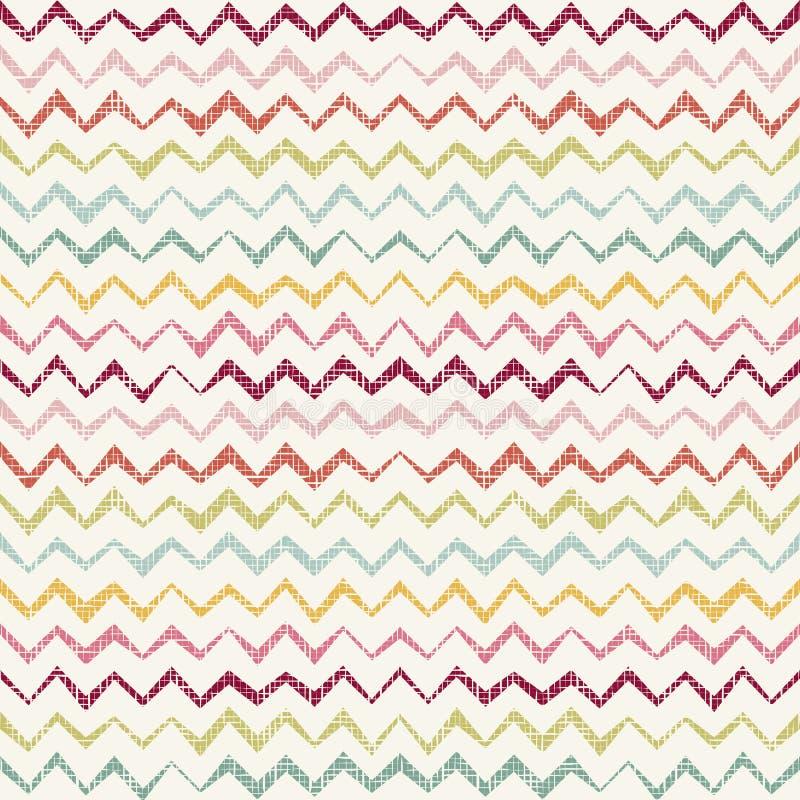 Rétro modèle sans couture géométrique abstrait illustration stock