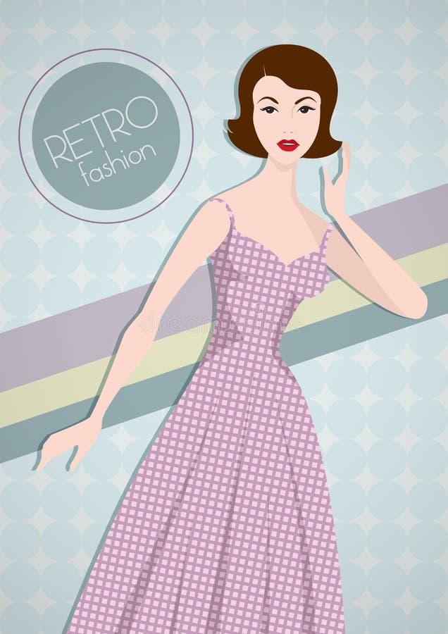 Rétro mode illustration stock