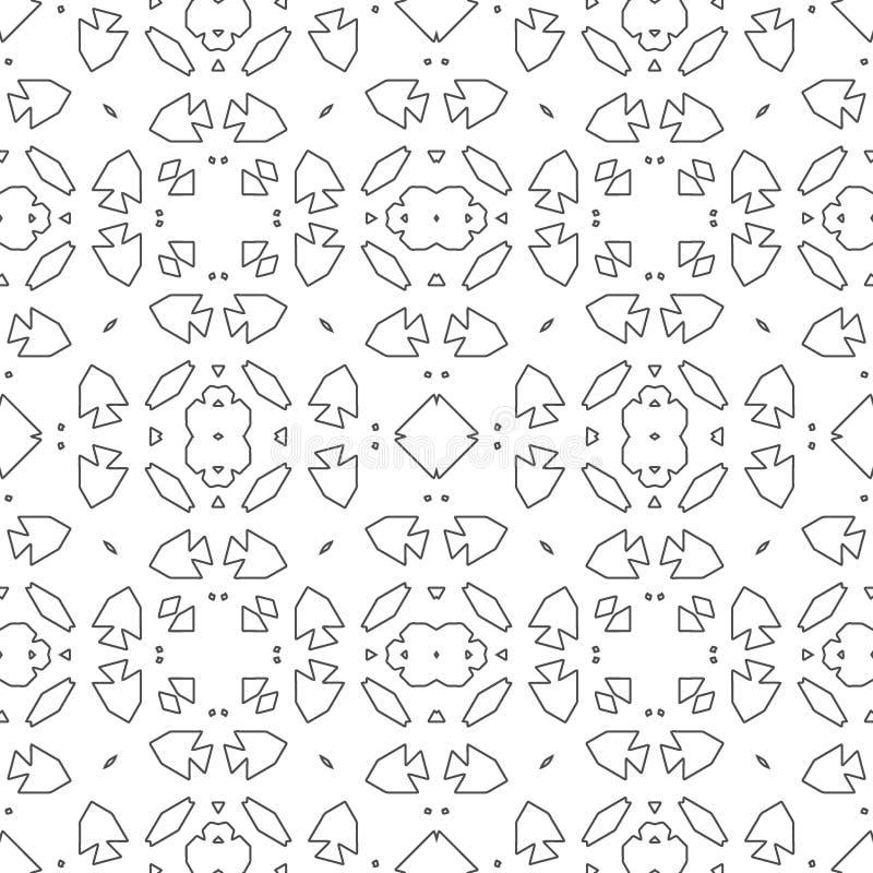 Rétro motif de tuile marocaine illustration libre de droits
