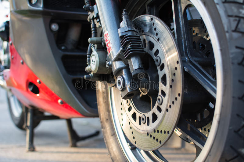 Rétro moto de Kawasaki GPZ photographiée dehors Vélo légendaire de film Top Gun photos stock