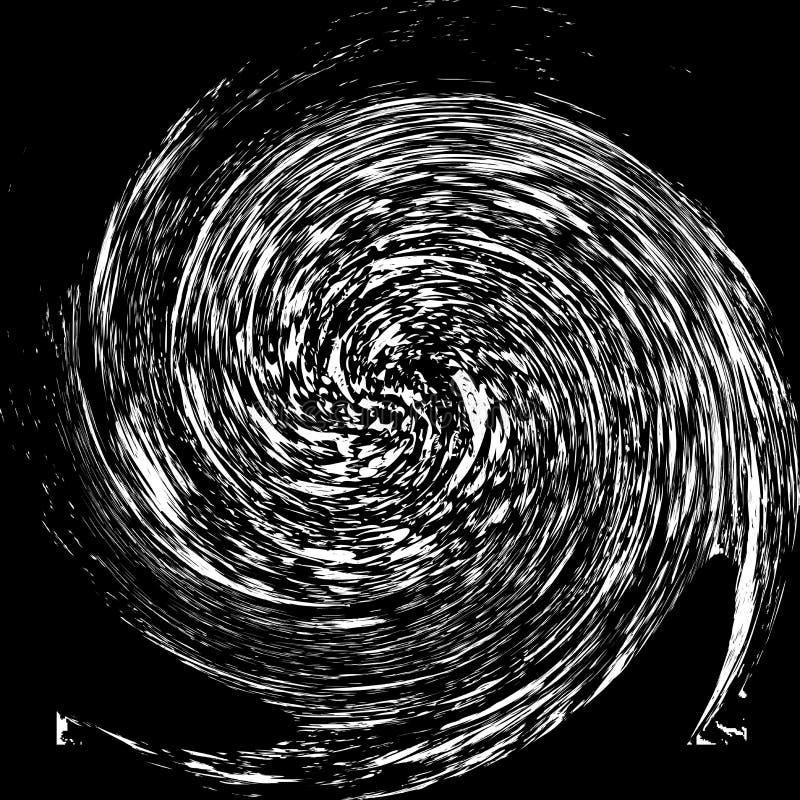 Rétro noir et blanc spiralé illustration libre de droits