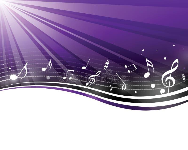 Rétro notes de musique illustration libre de droits