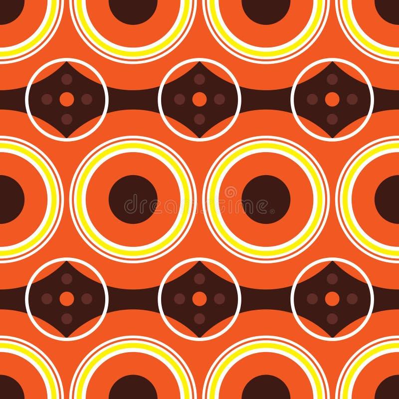 Rétro orange d'années '60 illustration de vecteur