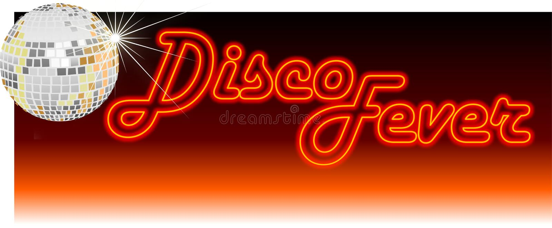 Rétro orange de fièvre de disco illustration de vecteur