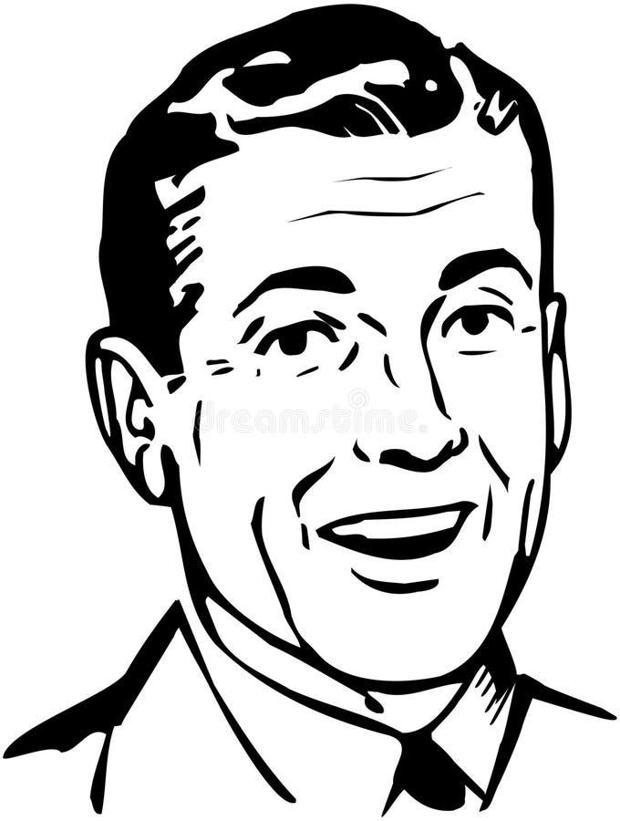 Rétro papa illustration stock