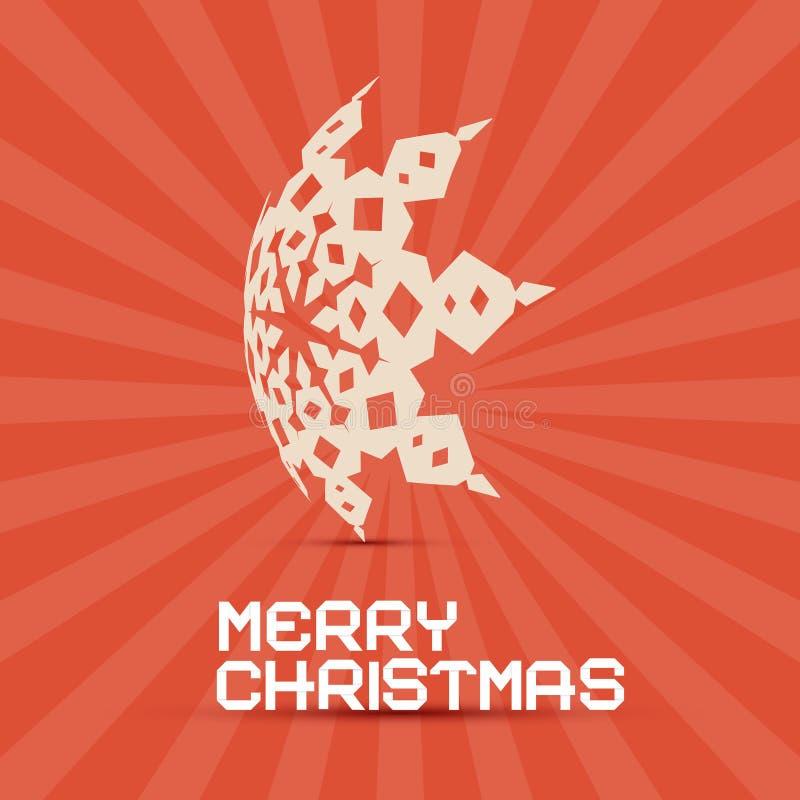 Rétro papier de Joyeux Noël illustration de vecteur