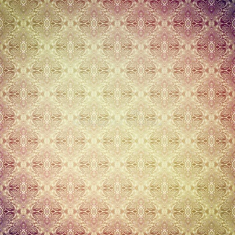 Rétro papier peint figuré par vintage, sable-rose illustration stock