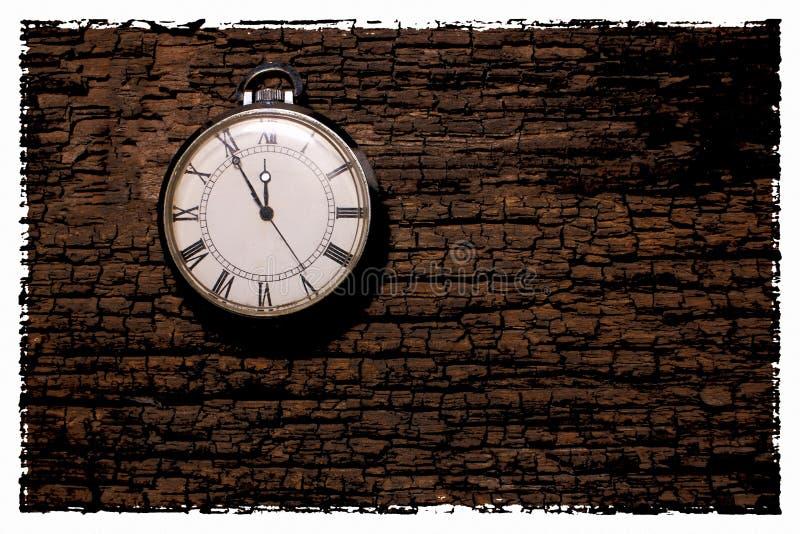 Rétro photo abstraite de fond d'horloge Cru vieux et poussiéreux illustration stock