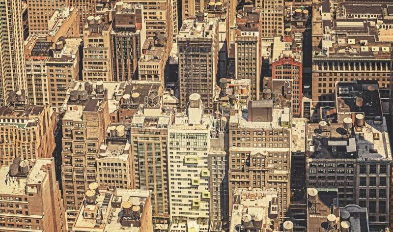 Rétro photo filtrée de New York City image stock