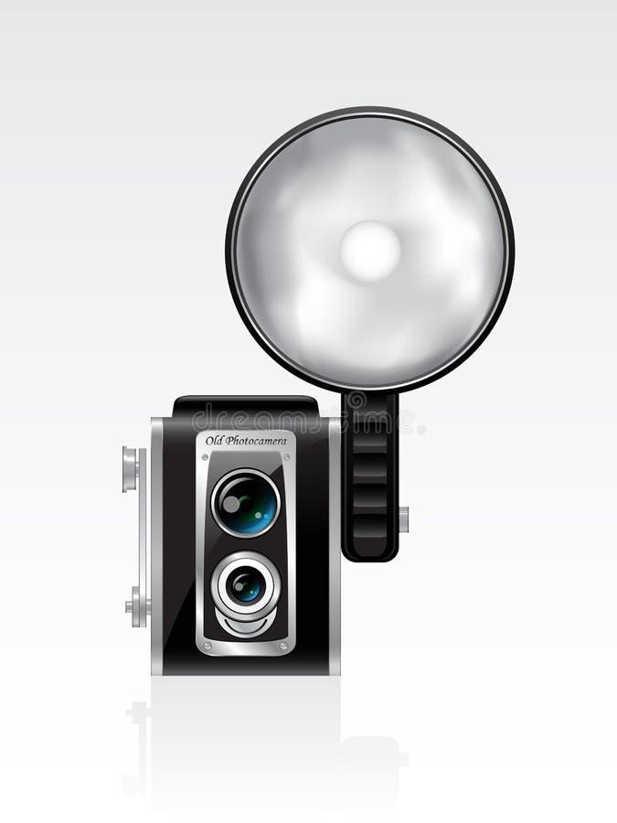 Rétro photocamera de vecteur illustration de vecteur