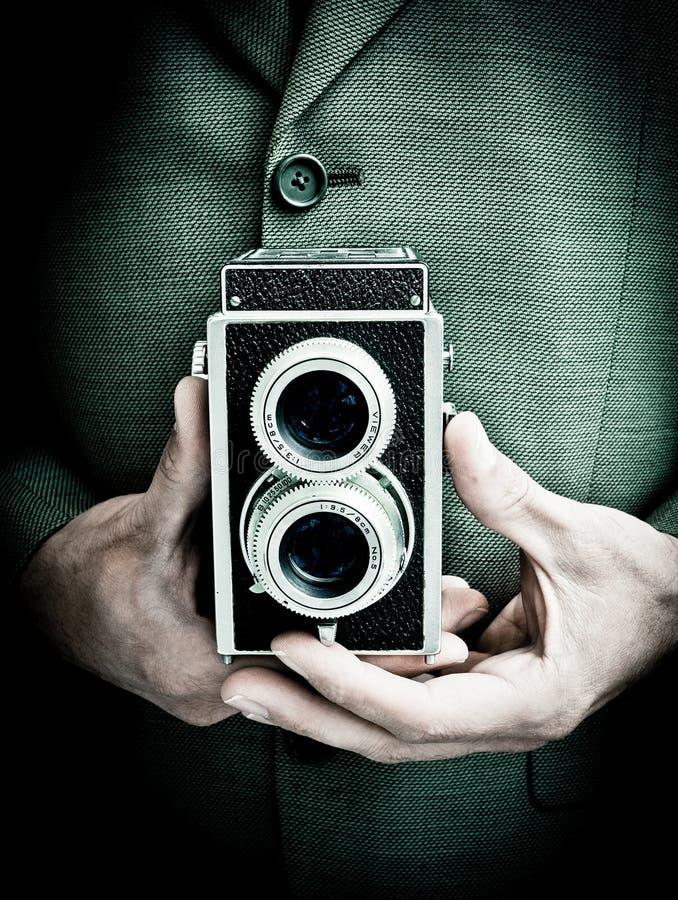 Rétro photographe image stock