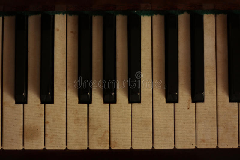 Rétro piano. Musique. Claviers photos libres de droits
