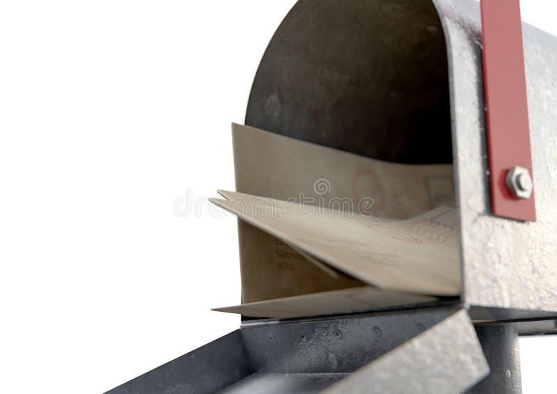 Rétro pile de boîte aux lettres et de lettre illustration libre de droits