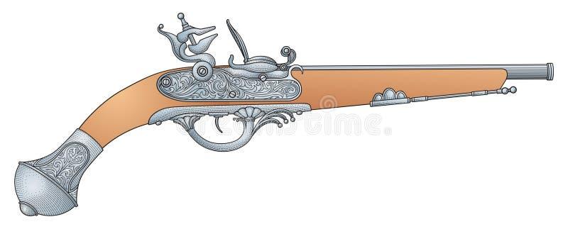Rétro pistolet illustration de vecteur