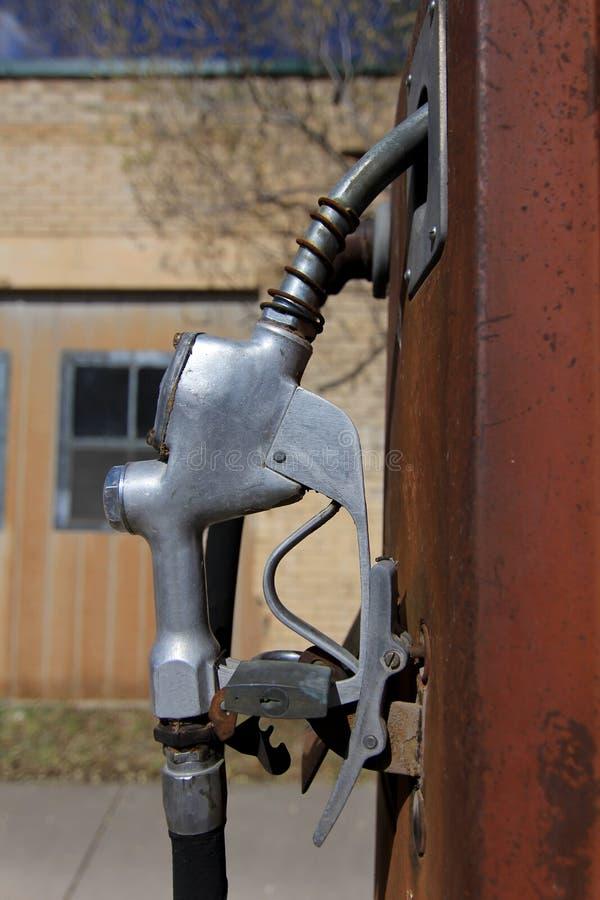 Rétro poignée de pompe à essence photo libre de droits