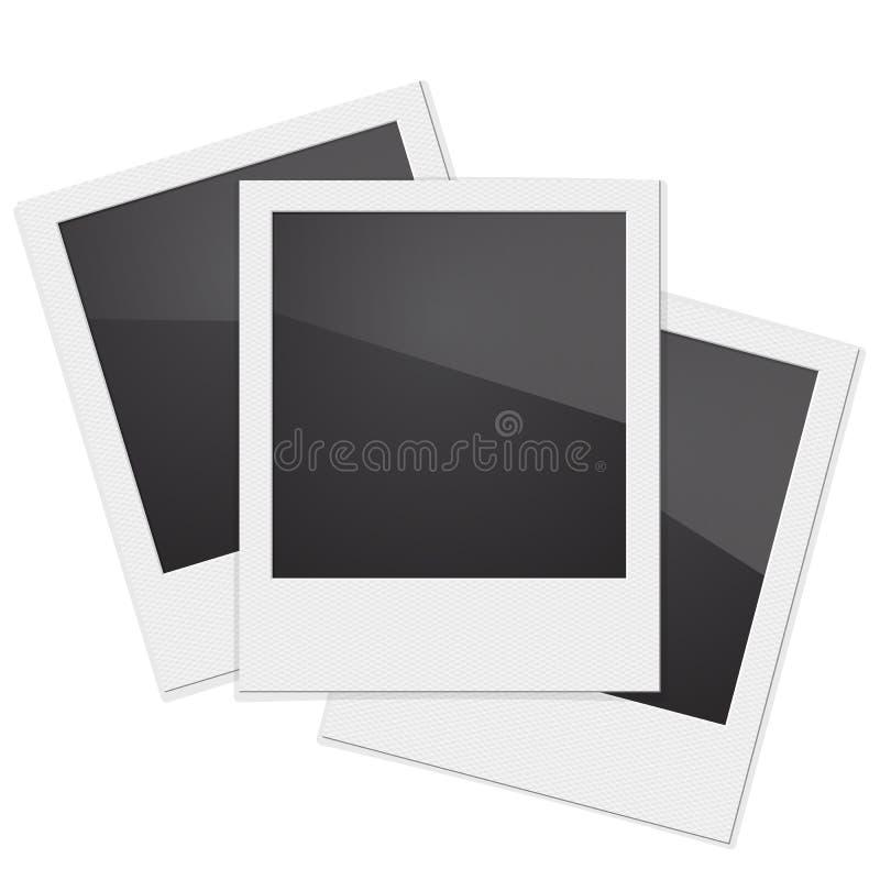 Rétro polaroïd de cadre de photo sur le fond blanc Illustra de vecteur illustration libre de droits