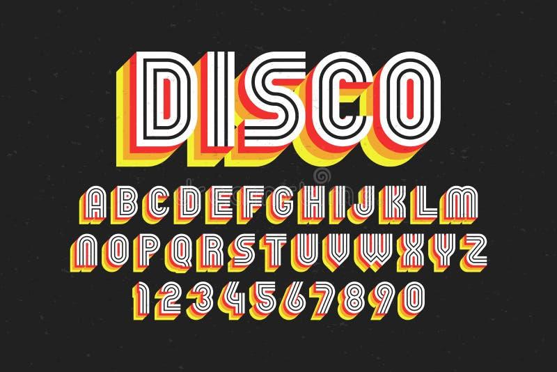 rétro police de 80 ` s, style de disco illustration de vecteur