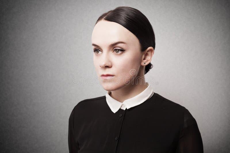 Rétro portrait d'une jeune femme photos libres de droits