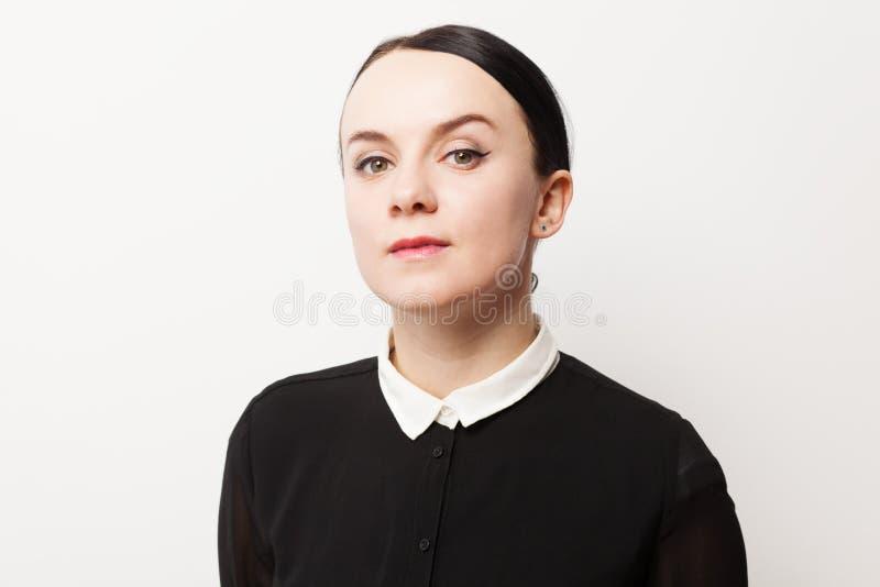 Rétro portrait d'une jeune femme images libres de droits