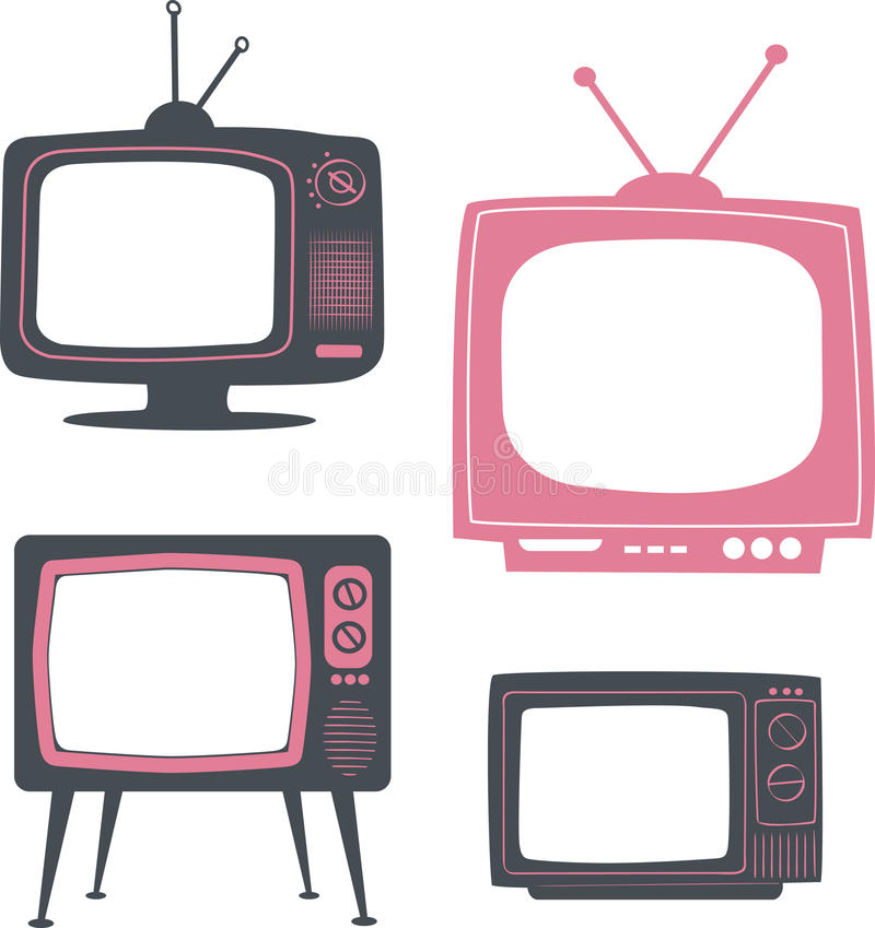 Rétro poste TV illustration de vecteur